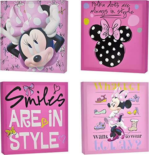 Disney Minnie Mouse toile Wall Art (4-Piece)