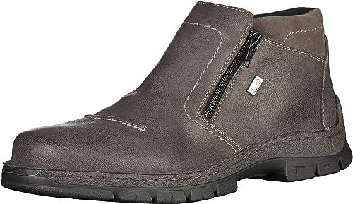 Rieker hombres Schnuerhalbzapatos, botas gris 670502-9