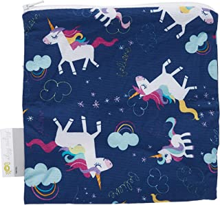Itzy Ritzy Happens Reusable Snack and Everything Bag, Unicorn Dreams, Purple