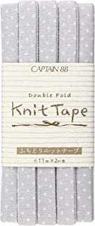 CAPTAIN88 Knit Tape ふちどりニットテープ 巾11mm×2m巻 CP168-28 グレー