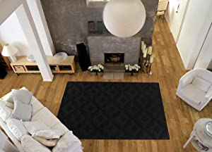 Garland Rug Charleston Area Rug, 9' x 12', Black