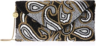 From St Xavier Women's Paisley Clutch, Black/Gold, One Size