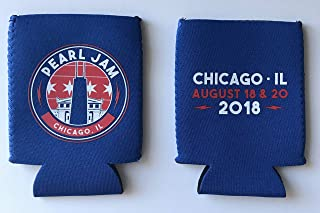 Pearl Jam coozie chicago wrigley field 2018 tour pj koozie can cooler new
