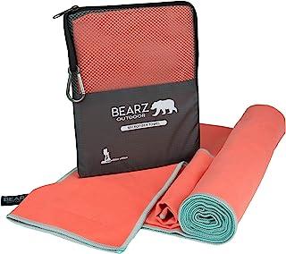 BEARZ Outdoor Microfiber Towel Set, 2 Pack Quick Dry Towel. Lightweight Travel Towel, Camping Towel. Fast Drying Gym Towel...