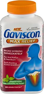 Gaviscon Max Peppermint Tablet, 50 Count