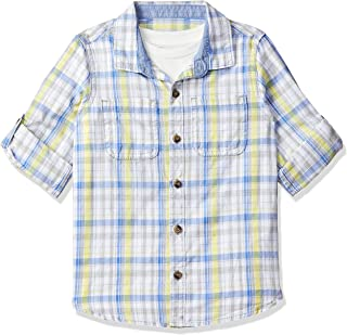 Mothercare Baby Boy's Checkered Regular fit Shirt