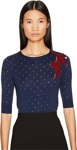 Sonia Rykiel - Perforated Woolsilk Knit Sweater