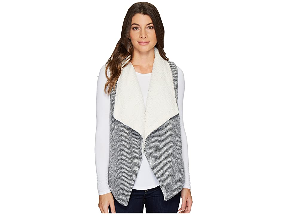 Mod-o-doc Corded Sweater Knit Reversible Vest (Light Grey) Women