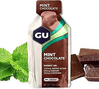 GU Energy Original Sports Nutrition Energy Gel, Mint Chocolate, 24 Count Box