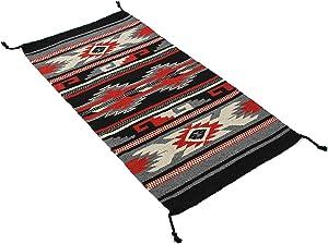 Onyx Arrow Southwest Décor Area Rug, 20 x 40 Inches, Durango Red, Gray, Black