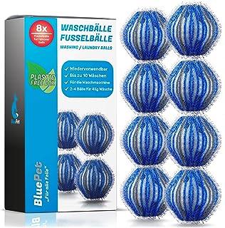 Bluepet® Lot de 8 balles de lavage pour machine à laver - Élimine les poils d'animaux, les peluches et les peluches - Attr...