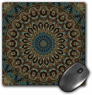 3dRose LLC 8 x 8 x 0.25 Inches Mouse Pad, Orb Circles Mandala (mp_42455_1)