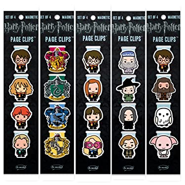Re-marks Harry Potter Students, Professors, Wizards, Hogwarts, and Crests Page Clip 5 Pack