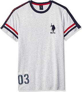 Men's Fashionably Striped Crew Neck T-Shirt