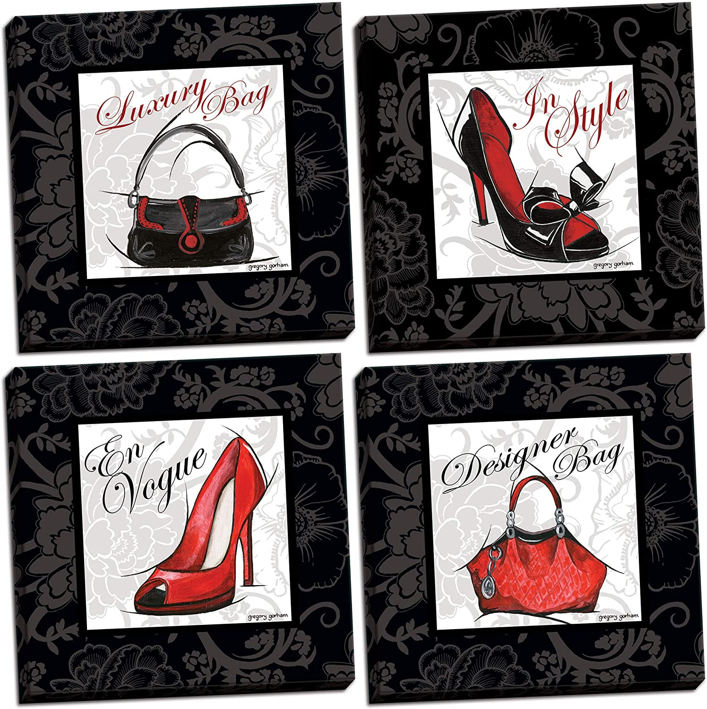 Gango Home Décor Fashion High-Heel Nashville-Davidson Mall Set Price reduction Luxury and Designer Purse