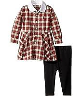 Ralph Lauren Baby - Plaid Shirtdress & Leggings Set (Infant)