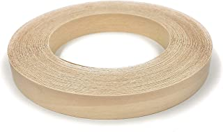 "Edge Supply Birch 3/4"" X 50' Roll, Wood Veneer Edge Banding Preglued, Iron on with Hot Melt Adhesive, Flexible Wood Tape Sanded to Perfection. Easy Application, Made in USA."