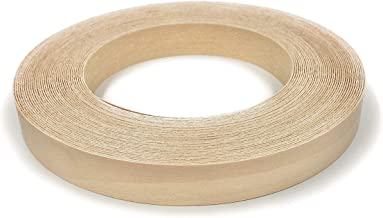 "Edge Supply Birch 3/4"" X 50' Roll, Wood Veneer Edge Banding Preglued, Iron on with Hot Melt Adhesive, Flexible Wood Tape S..."