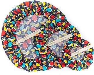 Lot de 3 housses de bol réutilisables avec revêtement imperméable en coton bio et élastique respectueux de l'environnement