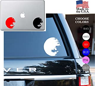 Star Wars Saga Death Star Space Station May The Force Be With You Vinyl Decal Sticker - Car Window, Laptop Skin, Wall, Mac (5.5