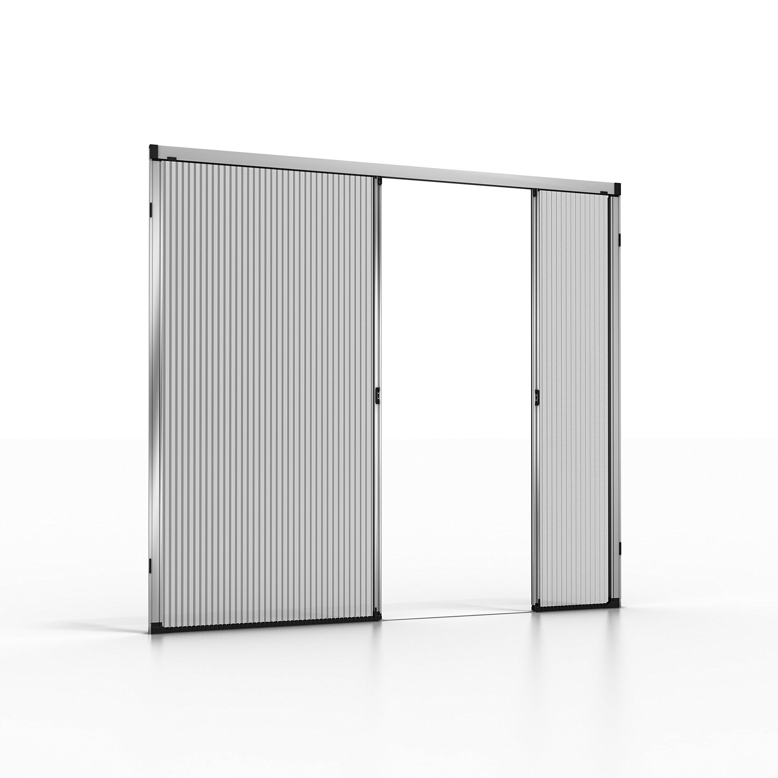 noflystore Platinum. 01 medida plisada Fly pantallas para puertas y ventanas, aluminio, negro, 75 x 190 cm: Amazon.es: Hogar