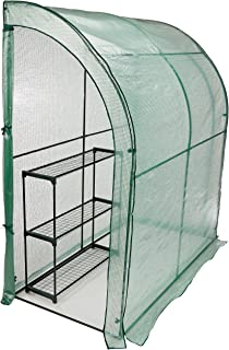 CO-Z Lean-to Greenhouse, Portable Walk in Green House with PE Cover, Waterproof Hot House UV Protected Walking Plant Green...