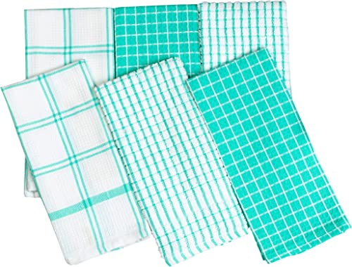 PIXEL HOME Cotton Kitchen Cleaning Towel 20 gsm (Set of 6, Green)