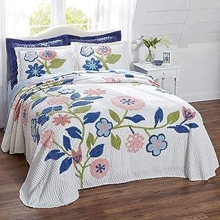 BrylaneHome Bloom Chenille Bedspread - Pink Multi, King