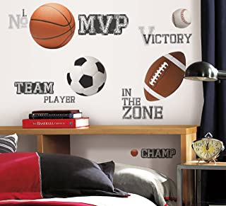 Roommates All Star Sports Saying Wall Decal, Multi-Colour, RMK1705SCS