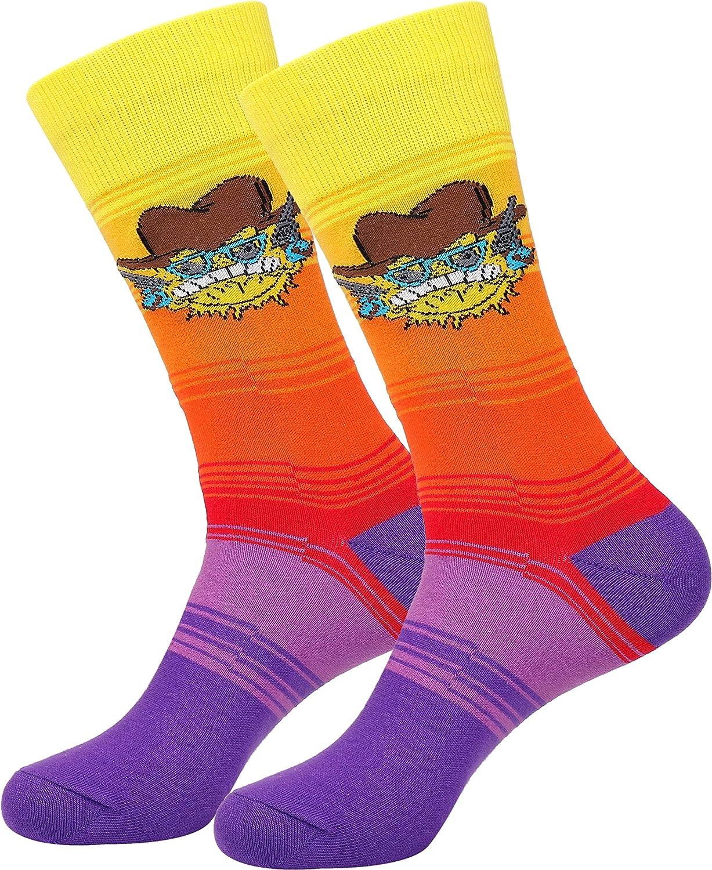 Cowboy Socks Sun Socks Striped Socks Fun Sock Meme Socks Funky Socks Casual Dress Socks