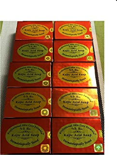 LOT OF 10 bars Kojic acid soap by Dr alvin professional and skin care fomula