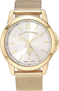 Men's Quartz Watch with Alloy Strap, Gold, 16 (Model:...