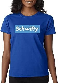 858 - Women's T-Shirt Schwifty Supreme Rick Morty Parody Logo