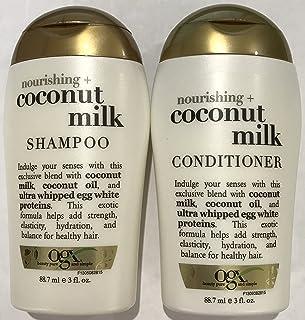 Ogx Nourishing Coconut Milk Shampoo & Conditioner Travel Size - 3 Oz. Each