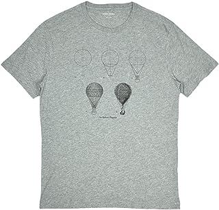 Banana Republic Men's Hot Air Balloon Diagram Graphic T-Shirt Heather Grey Small