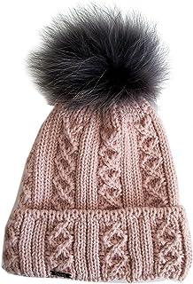 Frost Hats Winter Women Asian Raccoon Pom Beanie Hat M-2013-340RN
