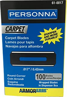 PERSONNA 61-0017-0000 PERSONNA ARMOREDGE ROUND CORNER CARPET BLADE, .017, CARBON, (100 PER PACK)