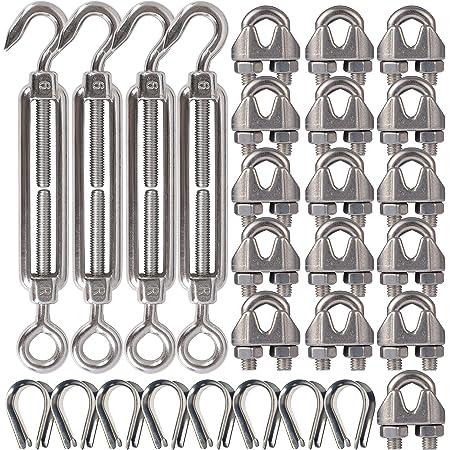 Rope Tensioner Stainless Steel a4 Wire Rope Tensioner Clamping Lock Nirosta Trellis Niro