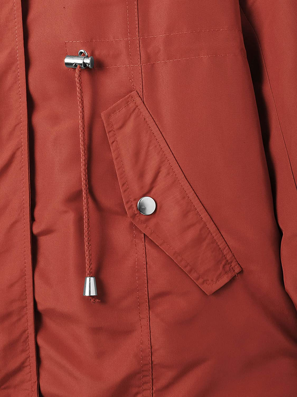Ma Croix Womens Winter Lightweight Hooded Anorak Jacket Short Faux Fur Coat Ski Jacket