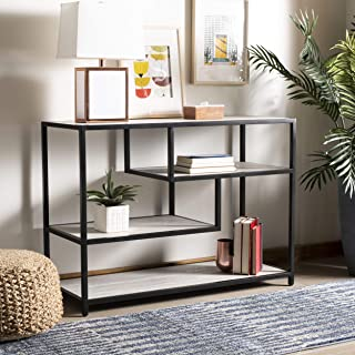 Safavieh Home Collection Reese Beige and Black Geometric Console Table,