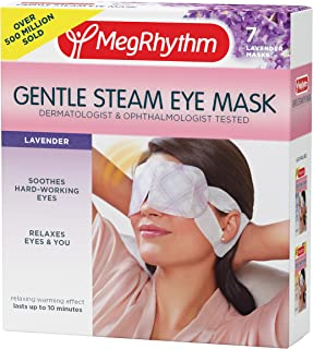 MegRhythm Gentle Steam Eye Mask, Lavender, 7 Count