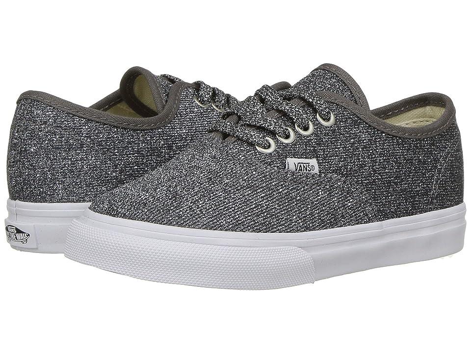 Vans Kids Authentic Glitter (Infant/Toddler) ((Lurex Glitter) Black/True White) Girls Shoes