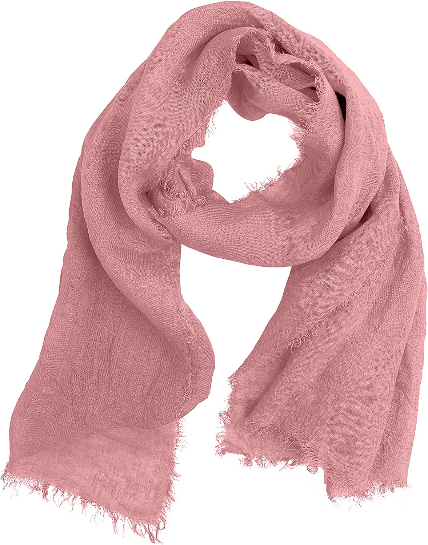 JOPHY & CO. Bufanda 100% lino para mujer y hombre, ligera y elegante.