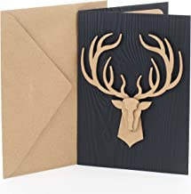 Hallmark Signature Birthday Card for Men (Deer Head)