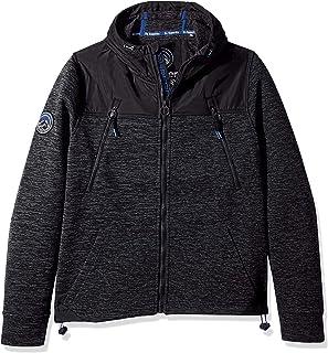 Superdry Men's Men's Mountain Softshell Hybrid Zip Hooded Jacket