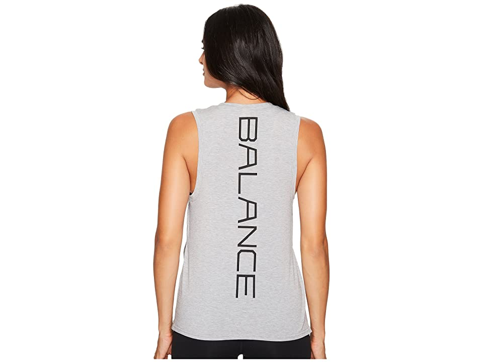 New Balance Graphic Layering Tank Top (Athletic Grey) Women