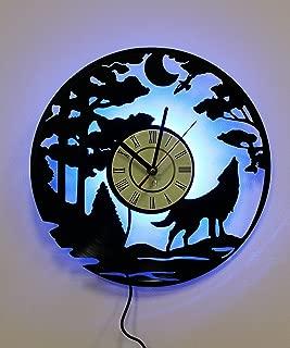 NICE STUFF ONLY Wolf Design Led Light, Night Light Function, Original Decor,, Bedside Lamp