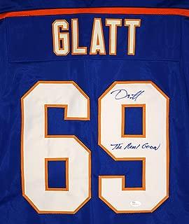 Doug Glatt Halifax Highlanders Signed Autographed Custom Blue #69 Jersey by Doug Smith The Goon Witnessed JSA COA