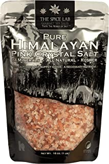 Best The Spice Lab Himalayan Salt - Coarse 1 Pound - Pink Himalayan Salt is Nutrient and Mineral Dense for Health - Gourmet Pure Crystal Kosher & Natural Certified Reviews