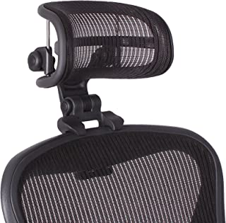 The Original Headrest for The Herman Miller Aeron Chair H3 Carbon | Colors and Mesh Match Classic Aeron Chair 2016 and Earlier Models